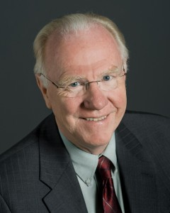 Chancellor Larry Vanderhoef photographed for the cover of UC Davis Magazine.